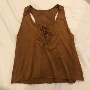 Vintage Camel Tie Up Tank Top